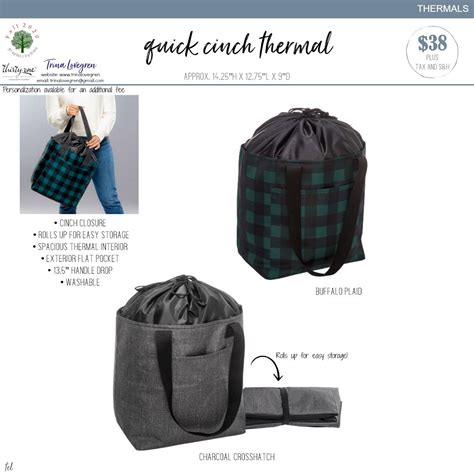 quick cinch thermal     gifts     bags