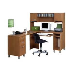 ambrosia l shaped computer desk with optional hutch at