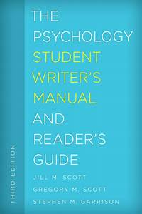 Download The Psychology Student Writer U0026 39 S Manual And Reader
