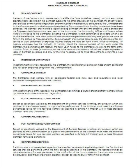legal contract samples templates   ms
