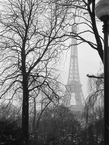 Eiffel Tower in the winter mist, 1963 Art Print by Alan