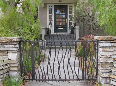 wrought iron garden gates wrought iron contemporary garden gate