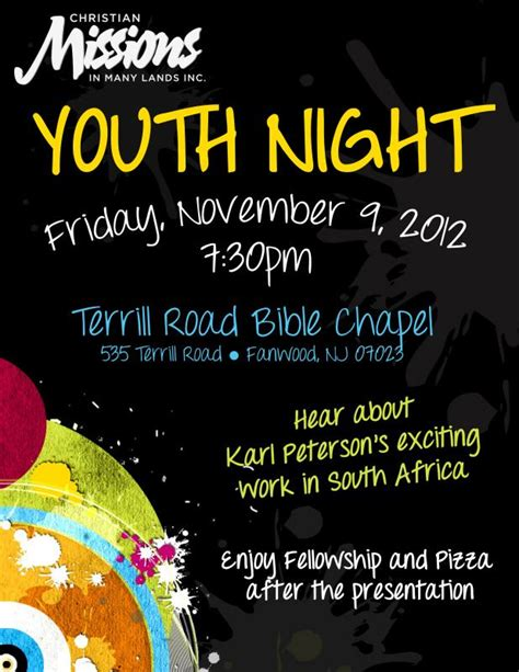 youth night cmml christian missions   lands