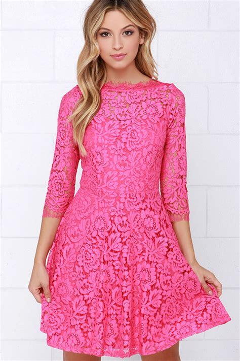 tops x s m l beautiful lace dress pink dress skater dress 64 00