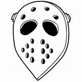 Hockey Mask Coloring Pages Costumes Surfnetkids Printable Sheet Template sketch template