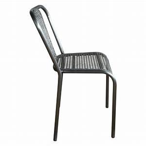 Chaise Style Industriel : chaise en m tal grise style industriel demeure et jardin ~ Teatrodelosmanantiales.com Idées de Décoration