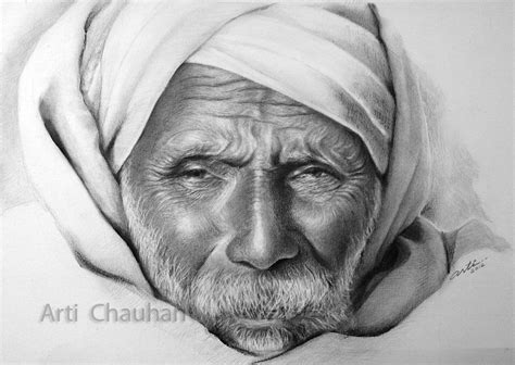 Arti's Art  Life As I See It Wrinkled Pencil Portrait