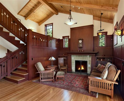 craftsman home interior design vintage house interior design with fireplace and wall