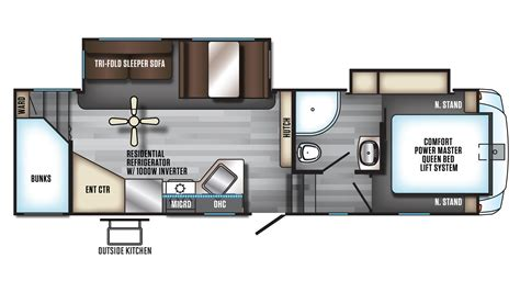 2016 fifth wheel floor plans bunkhouse new 2018 arctic wolf 265dbh8 fifth wheel bunkhouse with