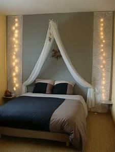 Ciel De Lit Adulte : des t tes de lit habill es avec des rideaux floriane lemari ~ Dailycaller-alerts.com Idées de Décoration