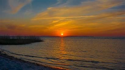 Sun Horizon Sunset Nature 4k Uhd Background