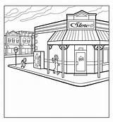 Grocery Drawing Draw Corner Market Drawn Sketch Drawings Street Shape Farmer Paintingvalley Things Orange Flowers sketch template