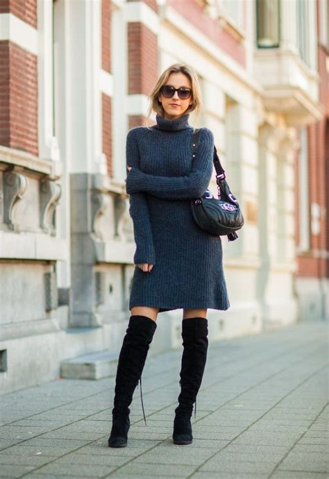 how to sweater sweater dress cool ways to wear the sweater dress