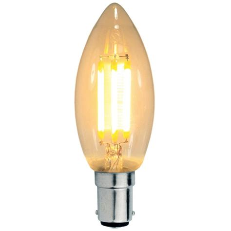 prolite led filament candle 3w sbc b15d clear non dimmable