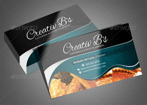 creative catering business card templates