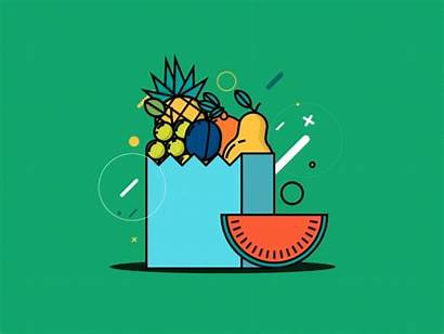 Animated Healthy Illustration Foods Animation Dribbble Icon