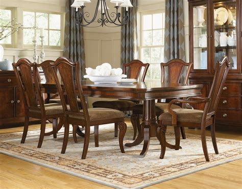 how to set a formal dining room table murray double pedestal formal dining set traditional