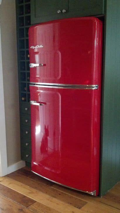 stunning cherry red retro fridge  big chill