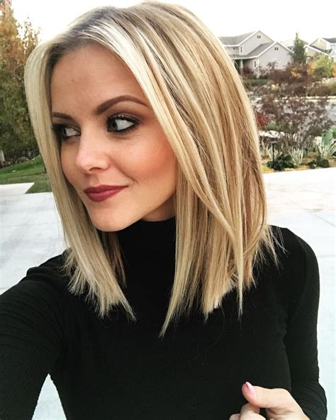 10 stylish sweet lob haircut ideas shoulder length
