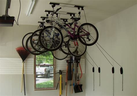 ceiling bike rack for garage the idea of bicycle garage storage home interiors
