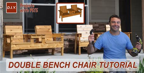 double chair bench diy patio furniture