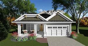 2 Bed Craftsman Bungalow With Open Concept Floor Plan