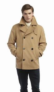 mens lined pea coat reefer jacket camel With camel pea coat mens