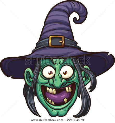 Cartoon Witch Face Clip Art
