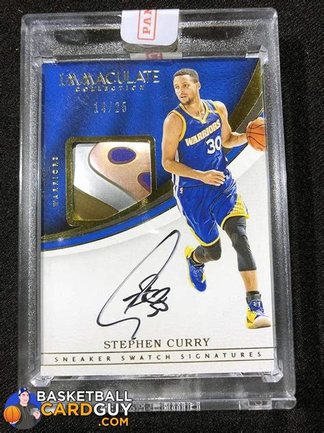 Check spelling or type a new query. Stephen Curry 2016-17 Immaculate Collection Sneaker Swatch Signatures - Basketball Card Guy