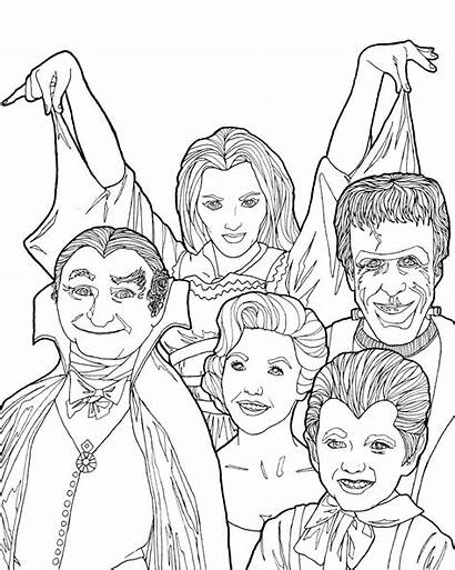 Coloring Pages Munsters Adult Digital Halloween Tv