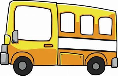 Bus Cartoon Clipart Clip Short Yellow Transparent