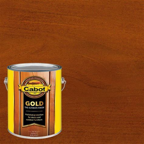 cabot  gal sunlit walnut gold oil exterior deck varnish