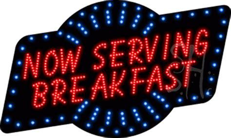 serving breakfast animated led sign breakfast led