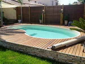 Piscine Semi Enterrée Coque : piscine forme haricot ~ Melissatoandfro.com Idées de Décoration