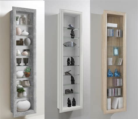 Glass Cabinet by Bora Wall Mounted Glass Wood Display Cabinet Shelving Ebay