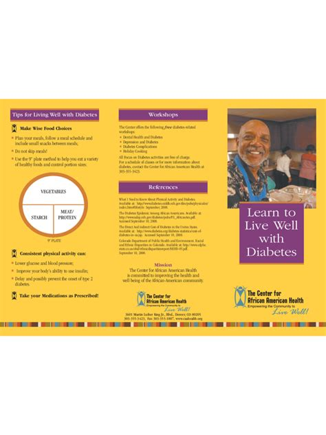diabetes brochure template 5 free templates in pdf word