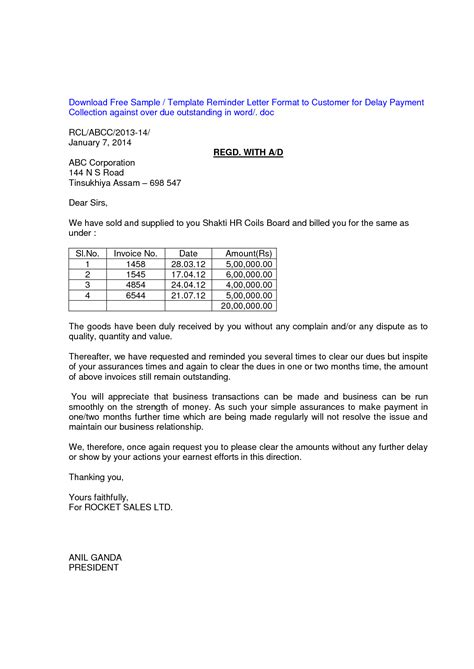 3rd letter late payment template to customer best photos of outstanding payment letter sle overdue