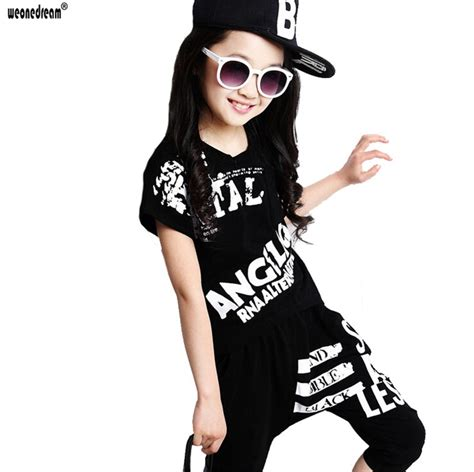 Aliexpress.com  Buy WEONEDREAM Hip Hop Style 2016 Summer Girls Fashion Short Sleeve Dancing ...