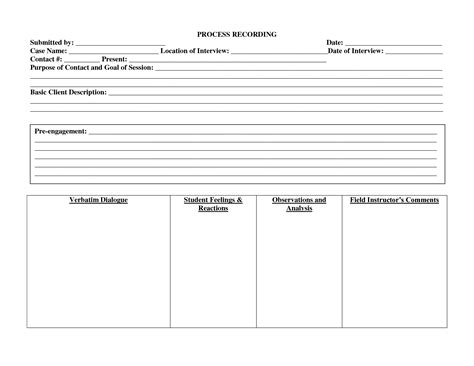 process recording template best photos of individual work plan template individual education plan template personal