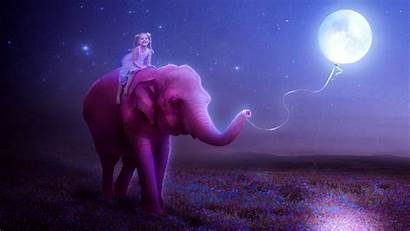 Manipulation Dream Digital Trippy Elephant Dreamy Moon