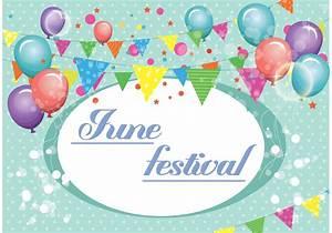 June Festival Vector Background - Download Free Vector Art ...