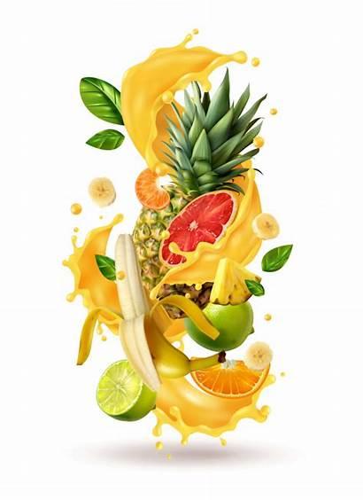 Juice Splash Jugos Tropical Fruits Frutas Naturales