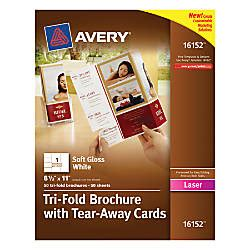 Templates Brochure With Tear Away Cards 1 Per Avery Tri Fold Brochures With Tear Away Cards 4 Cards Per