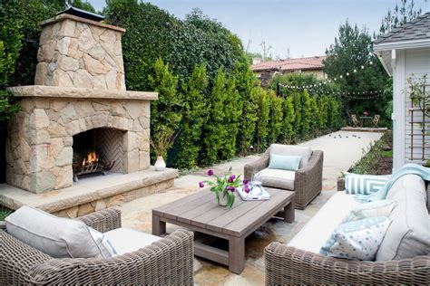 Modern Chic Living Room Ideas - elegant outdoor string lighting method los angeles traditional patio decorating ideas with bocce
