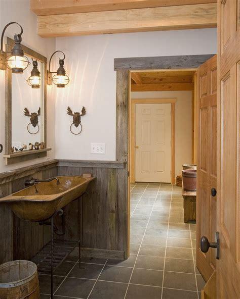 wood bathroom ideas rustic wainscot bathroom rustic with lodge style rustic wood wainscoting wood sink