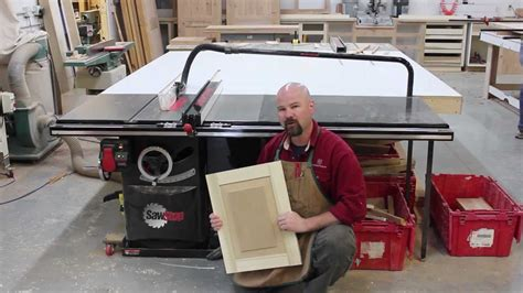 A Raised Panel, Made Solely On The Sawstop Table Saw Youtube