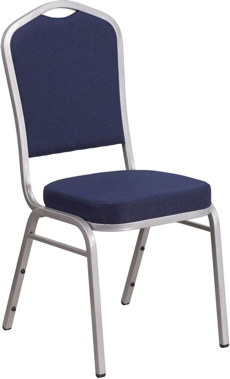 Hercules Stacking Banquet Chairs by Hercules Series Crown Back Navy Fabric Stacking Banquet