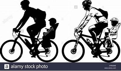 Silhouette Bike Icon Fahrrad Vektor Kleinkind Kindersitz