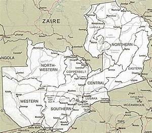 Zambia in Maps Part 1 - Major maps of Zambia, plus map of ...