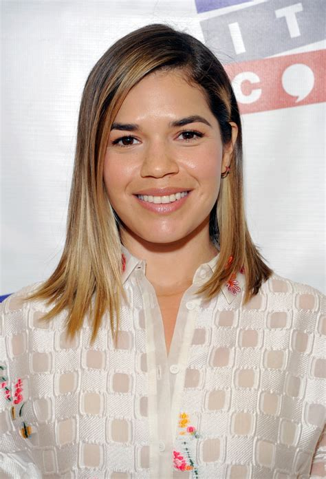 america ferrera medium layered cut hair lookbook stylebistro